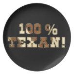 100% Texan Dinner Plate