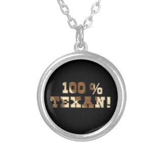 100% Texan Round Pendant Necklace