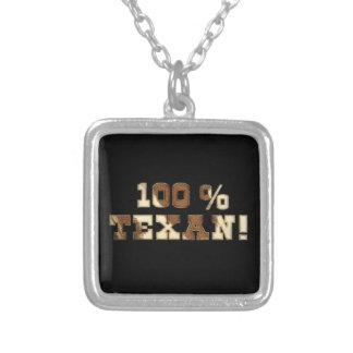 100% Texan Square Pendant Necklace