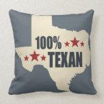 100% Texan Throw Pillow