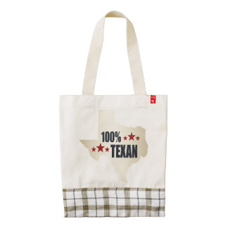 100% Texan Zazzle HEART Tote Bag