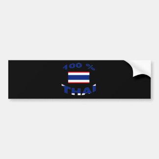 100% Thai Bumper Sticker