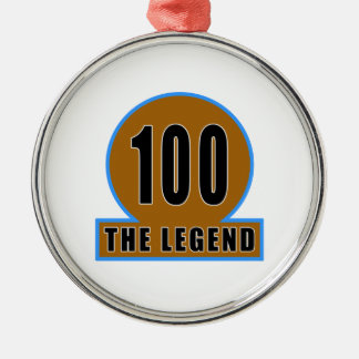 100 The Legend Birthday Designs Round Metal Christmas Ornament
