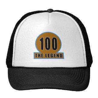 100 The Legend Birthday Designs Trucker Hat