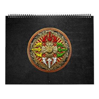 [100] Tibetan Double Dorje Mandala Calendar