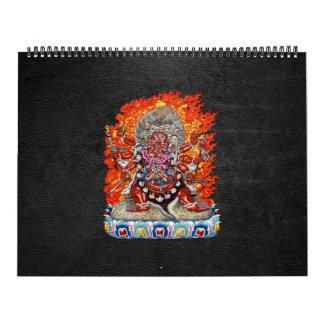 [100] Tibetan Thangka  - Wrathful Deity Hayagriva Calendar