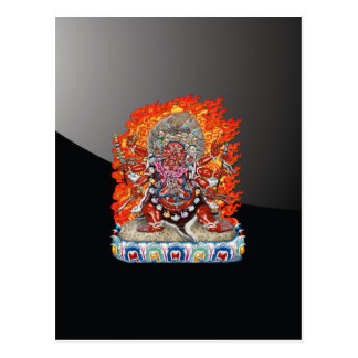 [100] Tibetan Thangka  - Wrathful Deity Hayagriva Postcard