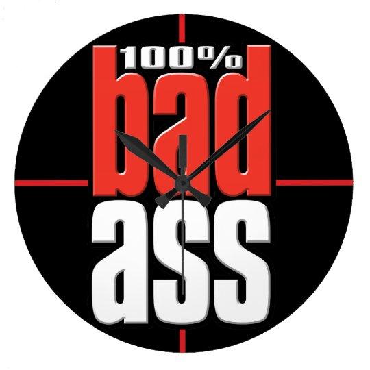 100% Tough guy.Bad.Masculine.Construction.Extreme. Large Clock