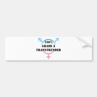 100% TransTrender Bumper Sticker