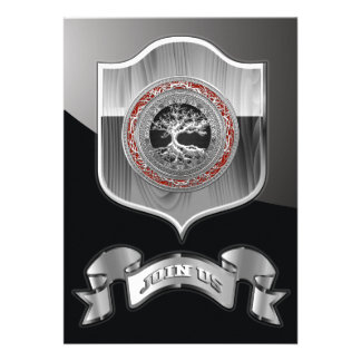 100 Treasure Trove Celtic Tree of Life Silver Custom Invites