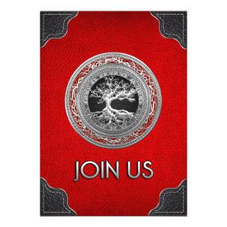 100 Treasure Trove Celtic Tree of Life Silver Personalized Invites