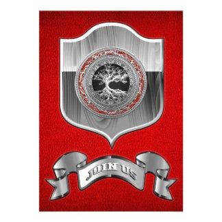 100 Treasure Trove Celtic Tree of Life Silver Invitations
