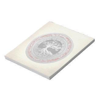 [100] Treasure Trove: Celtic Tree of Life [Silver] Memo Notepads