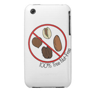 100% Tree Nut Free iPhone 3 Case-Mate Case