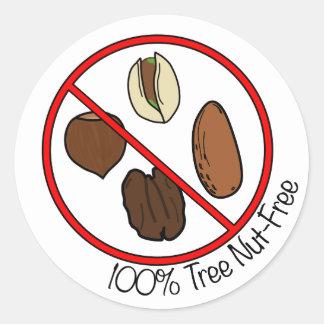 100% Tree Nut Free Classic Round Sticker