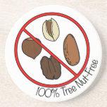 100% Tree Nut Free Drink Coasters