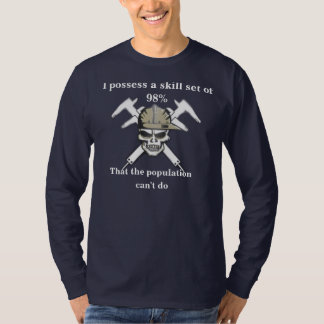 100% true old school machinist tshirt