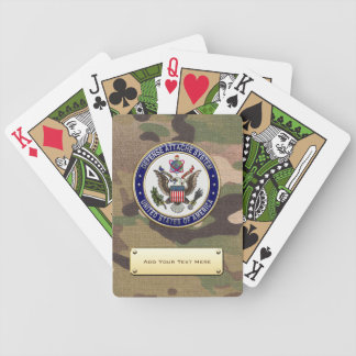 [100] U.S. Defense Attaché System (DAS) Emblem [3D Bicycle Playing Cards