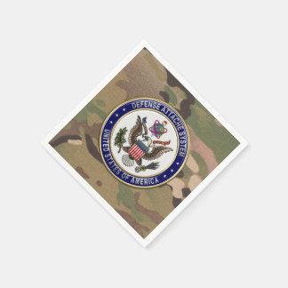 [100] U.S. Defense Attaché System (DAS) Emblem [3D Standard Cocktail Napkin