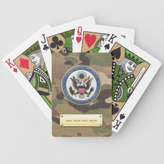 [100] U.S. Department of State (DoS) Emblem [3D] Bicycle Playing Cards