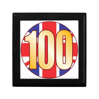 100 UK Gold Keepsake Box