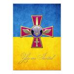 [100] Ukrainian Air Force Emblem 5x7 Paper Invitation Card