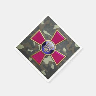 [100] Ukrainian Armed Forces Emblem Paper Napkin