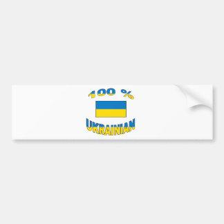 100% Ukrainian Bumper Sticker
