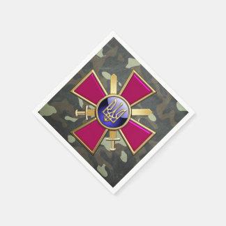 [100] Ukrainian Ground Forces Emblem Paper Napkins