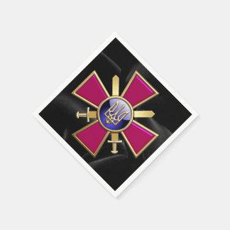 [100] Ukrainian Ground Forces Emblem Paper Napkin