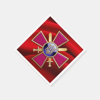 [100] Ukrainian Ground Forces Emblem Standard Cocktail Napkin