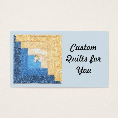 Unique Quilt Design Business Cards