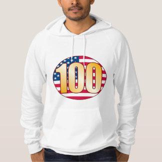 100 USA Gold Hoodie