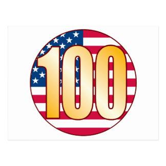 100 USA Gold Postcard
