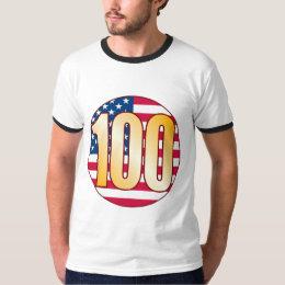 100 USA Gold T-Shirt
