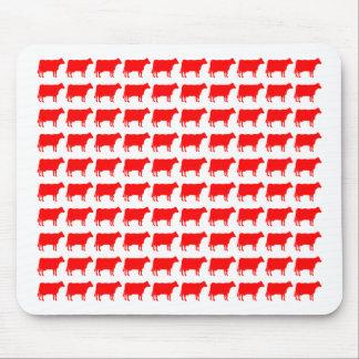 100 vacas - rojo tapetes de raton