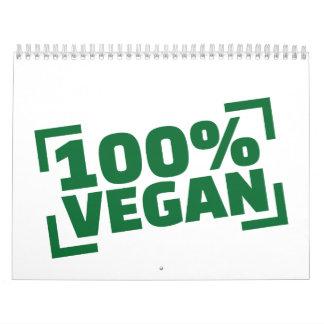 100% Vegan Calendar