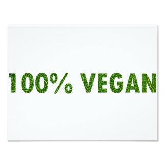 100% Vegan Card