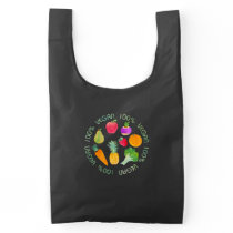 100% Vegan Fruit and Vegetable Watercolored Reusable Bag
