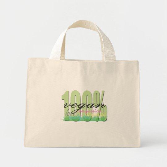 100% Vegan Mini Tote Bag