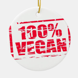 100% vegan Double-Sided ceramic round christmas ornament