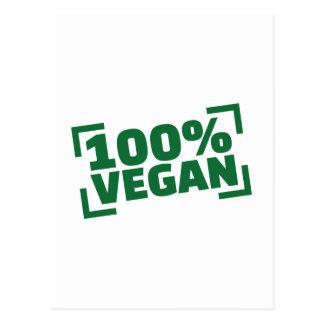 100% Vegan Postcard