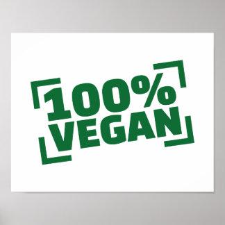 100% Vegan Poster