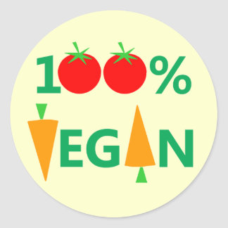 100% Vegan Witty Stickers For Vegetarian Activists
