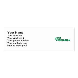 100 Vegetarian Business Card