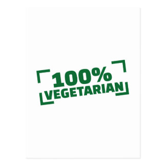 100% Vegetarian Postcard