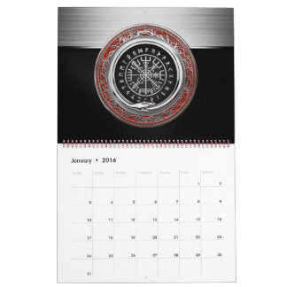 [100] Vegvisir - Viking Silver Magic Runic Compass Calendar