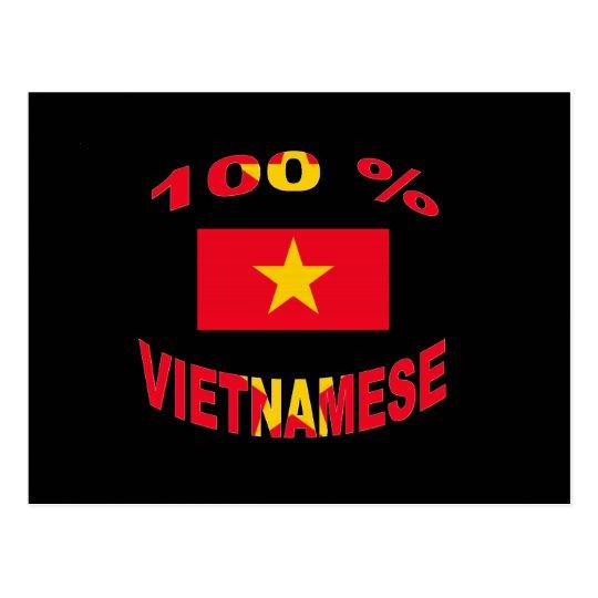 100% Vietnamese Postcard