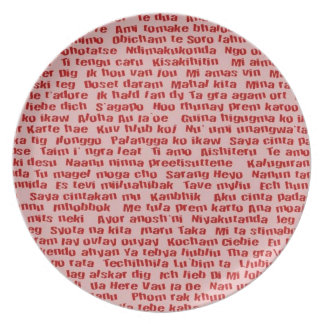 100 Ways To Say I Love You Dinner Plate