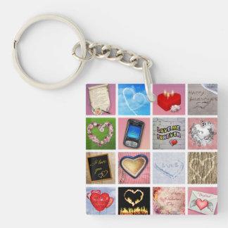 100 Ways to say I love you Keychain